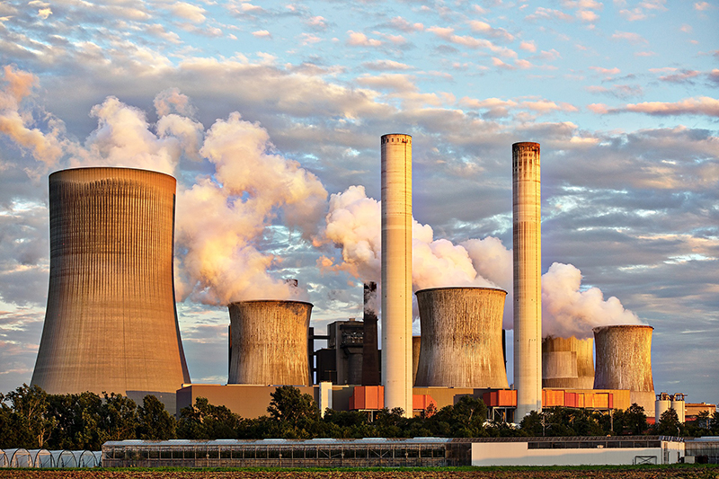 Power Plant Industry Pollution